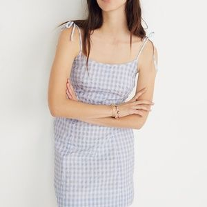 Madewell Gingham Tie-Strap Dress Size 4